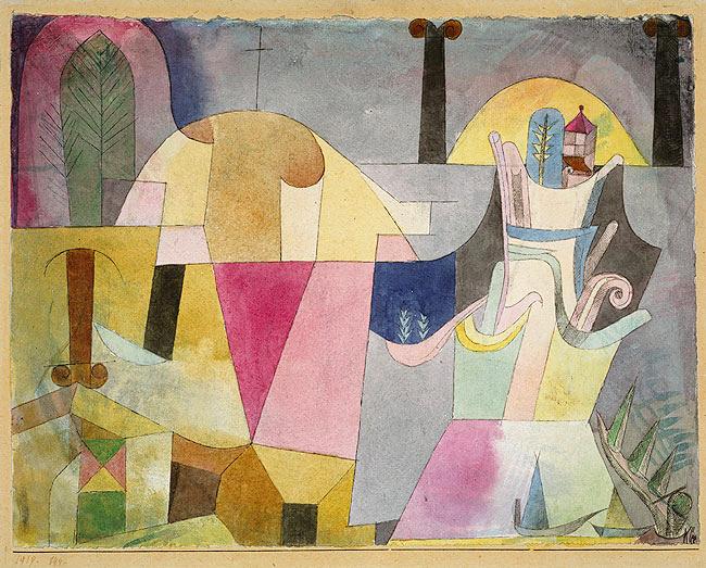 Klee, Paul (1879-1940) - 1919 Black Columns in Landscape (Metropolitan Museum of Art, New York)