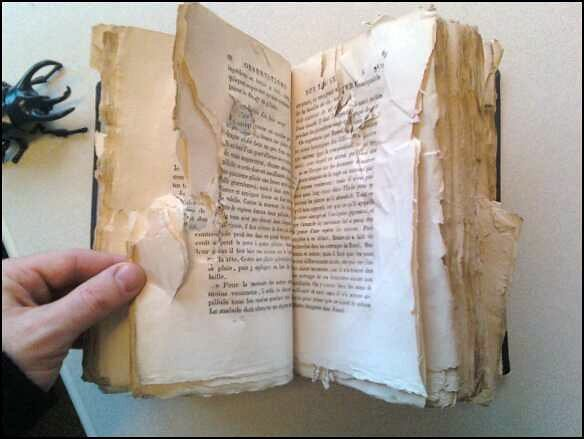 A damaged book