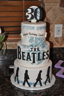 Magnificent Beatles Cake This Birthday Cake Was Fora Die Hard Beatles Flickr Funny Birthday Cards Online Alyptdamsfinfo