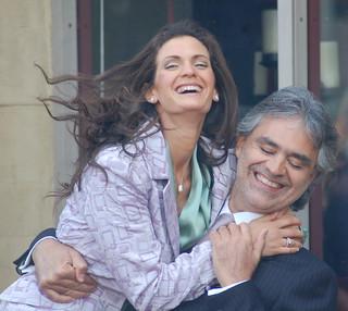 Andrea Bocelli With Fiance Veronica Berti Andrea Bocelli Flickr