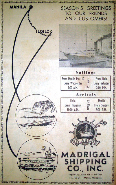 1950 1224 Madrigal Shipping Co - SS Argus Ad