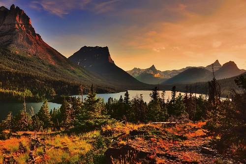 usa montana glaciernationalpark stmarylake