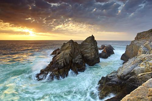 ocean california travel sunset sea vacation sky seascape beach nature rock fog sunrise canon landscape monterey sand wave carmel 5d pointlobos stratus mkii pinnaclerock joby gorillapod 5dmkii photocontesttnc10