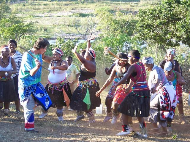 White Sangoma at a Zulu Wedding   Our resident white sangoma