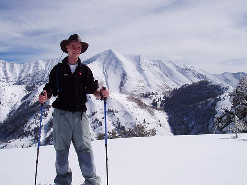 Me at the summit of Y Mountain. Provo Peak  in the background.