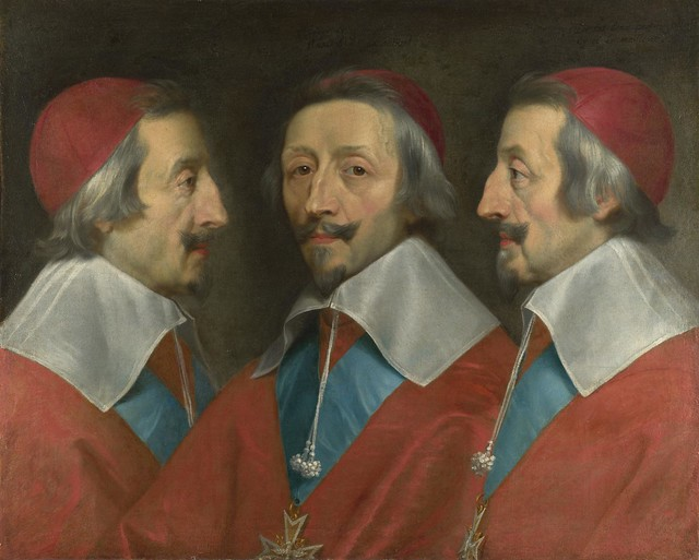 Philippe de Champaigne and studio - Triple Portrait of Cardinal de Richelieu