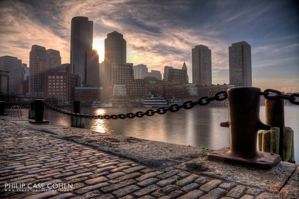 Boston Skyline by Philip Case Cohen