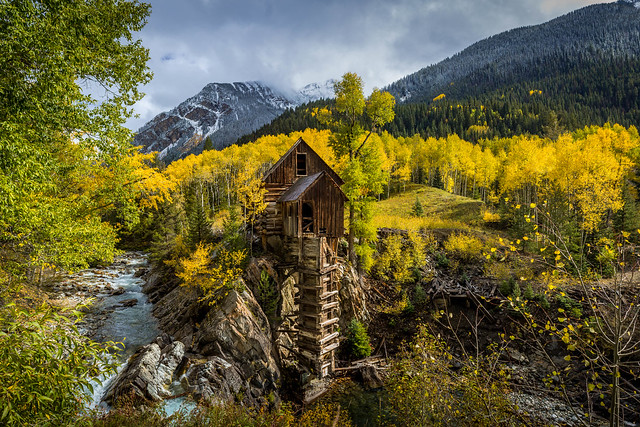 Crystal Mill during peak fall color