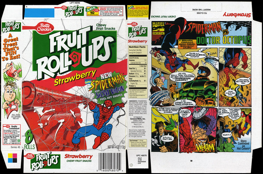 Betty Crocker - Fruit Roll-Ups - Strawberry Spider-Man and