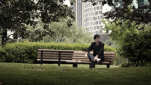 Business Man Takes a Break in People's Park | by IceNineJon