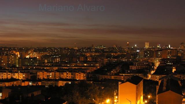 Anochece en Madrid  18.10.07