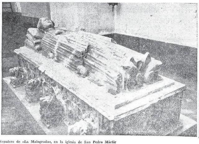 """Revista Siglo Futuro. Sepulcro de """"la Malograda"""" en 1935"""
