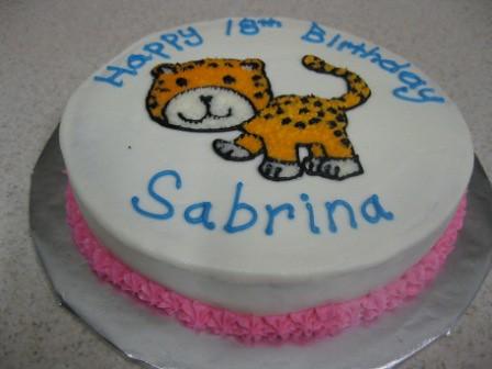 Wondrous Birthday Cake Cheetah I Made These Birthday Cakes For My N Flickr Personalised Birthday Cards Vishlily Jamesorg