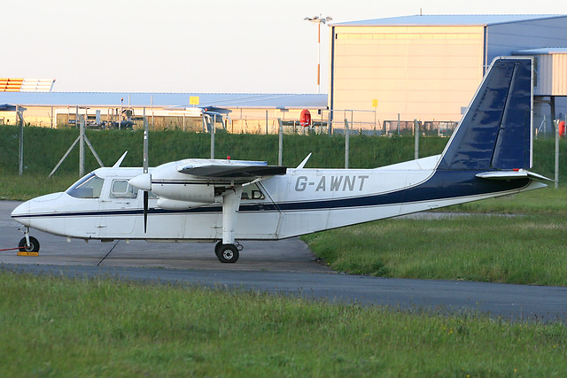 G-AWNT - 1968 build Britten-Norman BN-2A Islander, parked at East Midlands