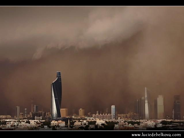 Kuwait - Al-Sarrayat Sand Storm over Kuwait City