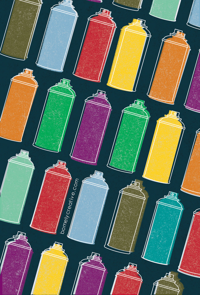 Spray Paint Cans : iPhone Wallpaper : | cbomely | Flickr