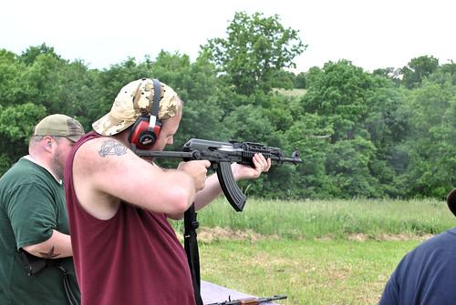 Sean Firing Josh's Yugoslavian AK (M70)