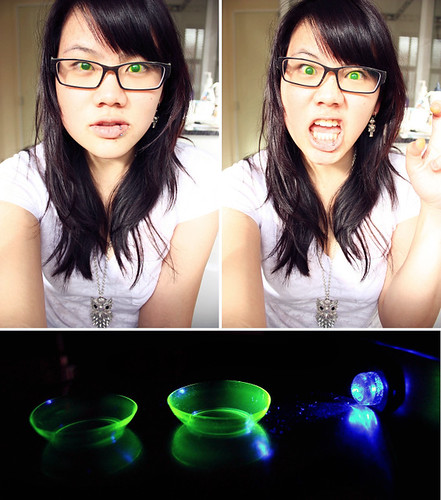 Fluorescent Adolescent Contact Lenses Steeped In