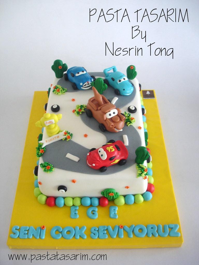 Brilliant Disney Cars Birthday Cake Ege Cake By Nesrin Tong Flickr Birthday Cards Printable Opercafe Filternl