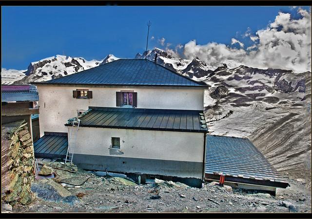 The end of the summer in Matterhorn &Hörnli-Hütte 3260 m alt.  1857