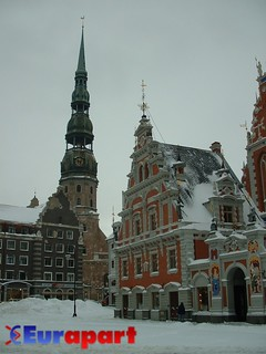 House of Blackheads and St Peters Church, Riga