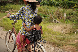 Khmer Mom & Daughter on Bike | by goingslowly
