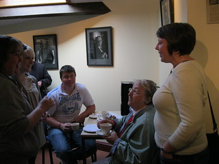 Hot desking & tea in Ystafell Cerdin Room.