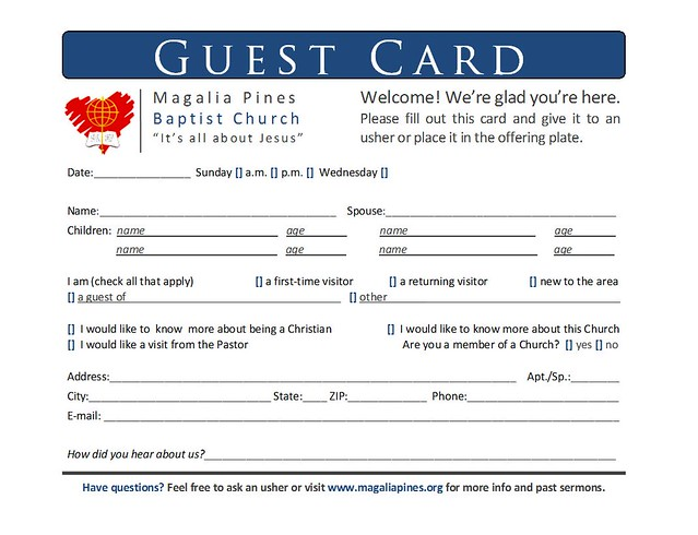 Guest Card | Hi all  I have to redo this one  It doesn't nec