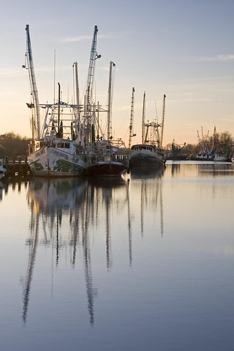 morning sunlight reflection water port sunrise boats la canal dock louisiana lafayette ben south shrimp bayou pierce nets shrimping dockside delcambre carlinbayou