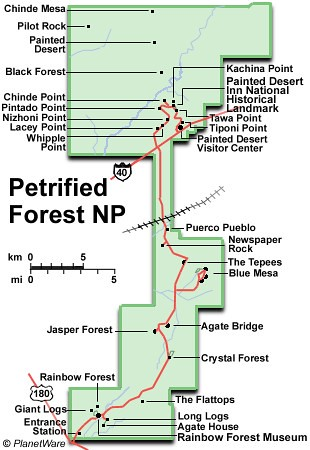Map Of Arizona With National Parks.Arizona Petrified Forest National Park Map I Ting Chiang Flickr
