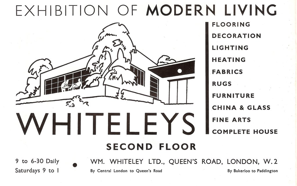 . Exhibition of Modern Living at Whiteleys Store  London   a    Flickr
