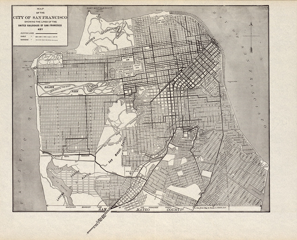 Map of the City of San Francisco Showing the Lines of the ... San Francisco Railroad Map on new york underground railroad map, florida railroad map, baton rouge railroad map, western ny railroad map, sacramento valley railroad map, new york city railroad map, corpus christi railroad map, newport news railroad map, nyc railroad map, fargo railroad map, gadsden purchase railroad map, worcester railroad map, knoxville railroad map, ny state railroad map, pacific harbor railroad map, seattle railroad map, council bluffs railroad map, denver railroad map, yokohama railroad map, houston railroad map,