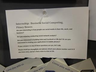 Pitney Bowes - Internship, Business Social Computing