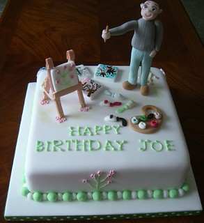 Fabulous Birthday Cake For An Artist This Was A Birthday Cake F Flickr Personalised Birthday Cards Paralily Jamesorg
