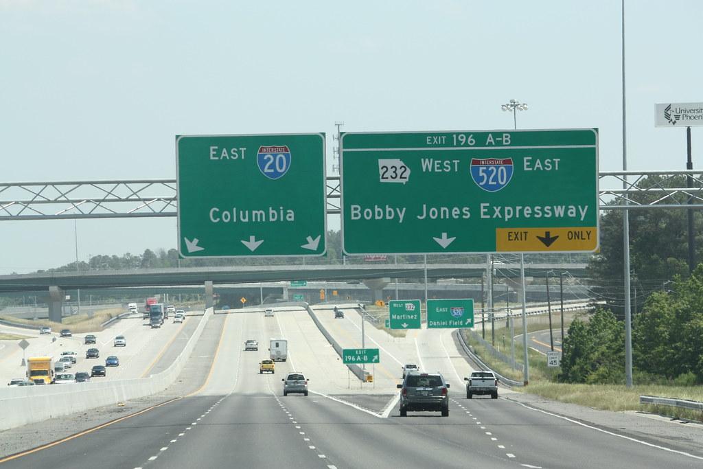 I-20 East at I-520 - Augusta, GA | I-20 @ I-520 near Augusta