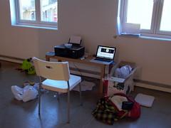 My makeshift office