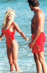 Pamela Anderson & David Hasselhoff, Baywatch, 1995.
