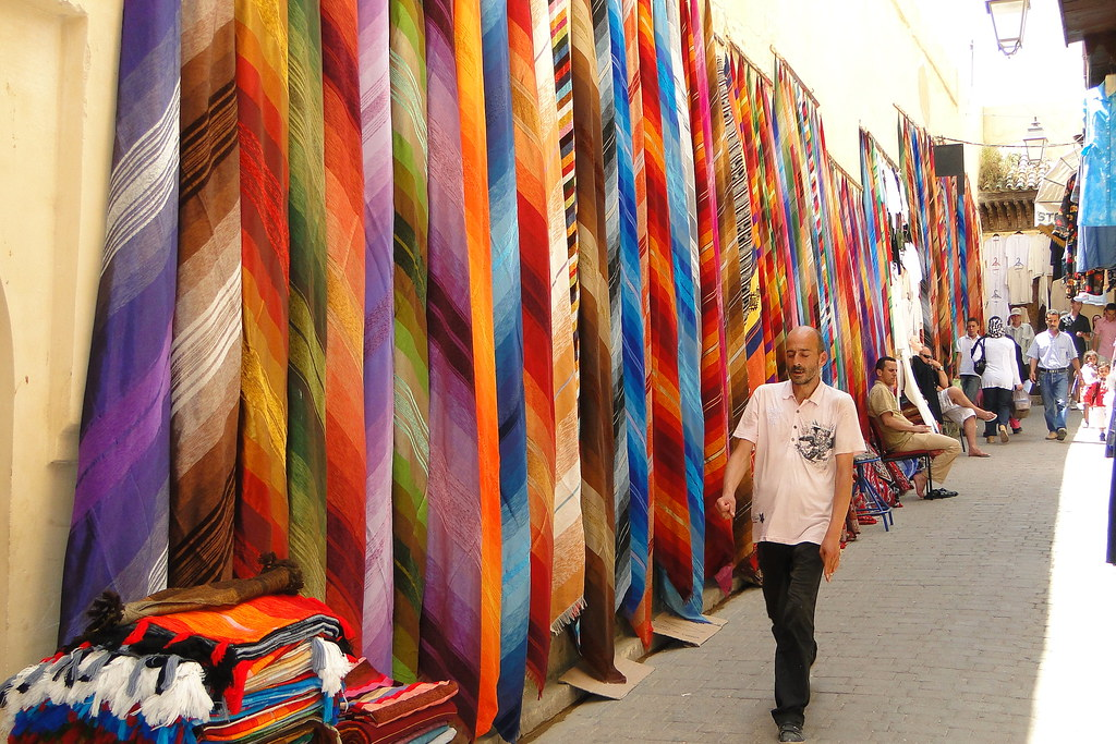 Colorful Cloth for Sale - Medina (Old City) - Fez, Morocco
