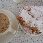 Cafe au lait and Beignets at Cafe du Monde