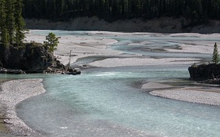 River with glacial meltwater