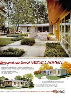 National Homes Ad - Life 1957