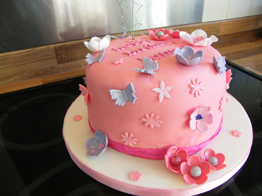 Wondrous Girly Birthday Cake Whimiscal Birthday Cake For My Next Do Flickr Personalised Birthday Cards Beptaeletsinfo
