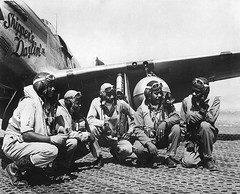 P-51 fliers in World War II   by The U.S. Army