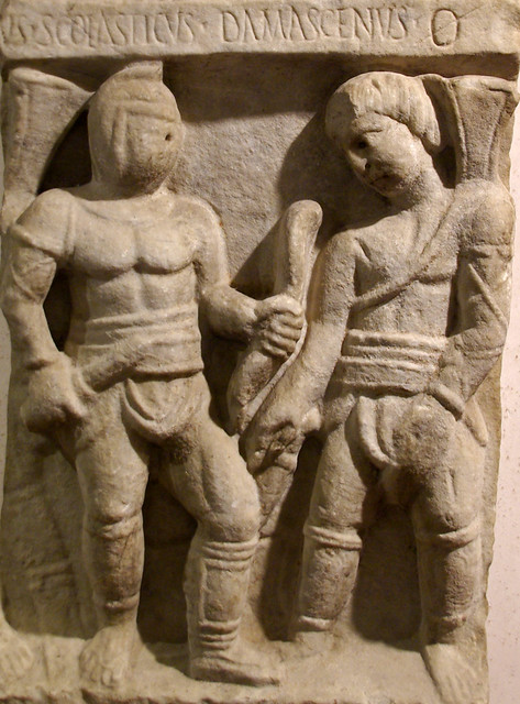 Lluita de gladiadors, Museo Nazionale Romano nelle Terme di Diocleziano, Roma