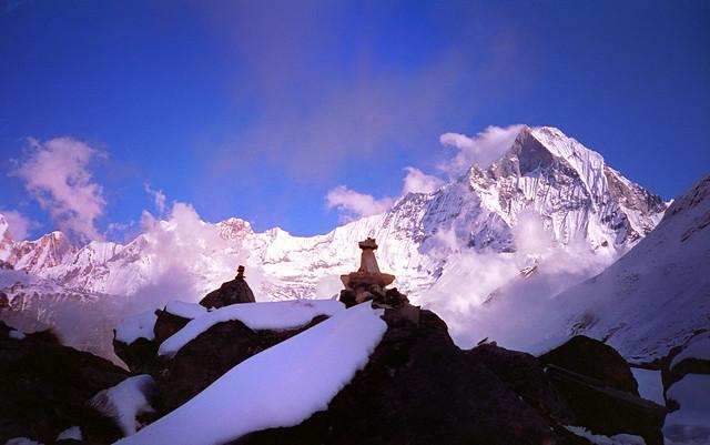 Annapurna, Nepal, Rock Cairns 1995