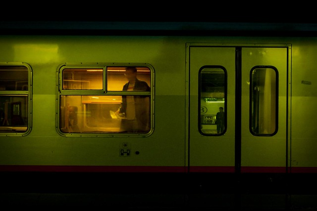 The Green Train and the Orange Traveller