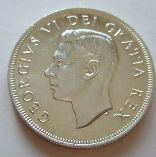 CANADA, GEORGE VI 1949 ---SILVER DOLLAR b