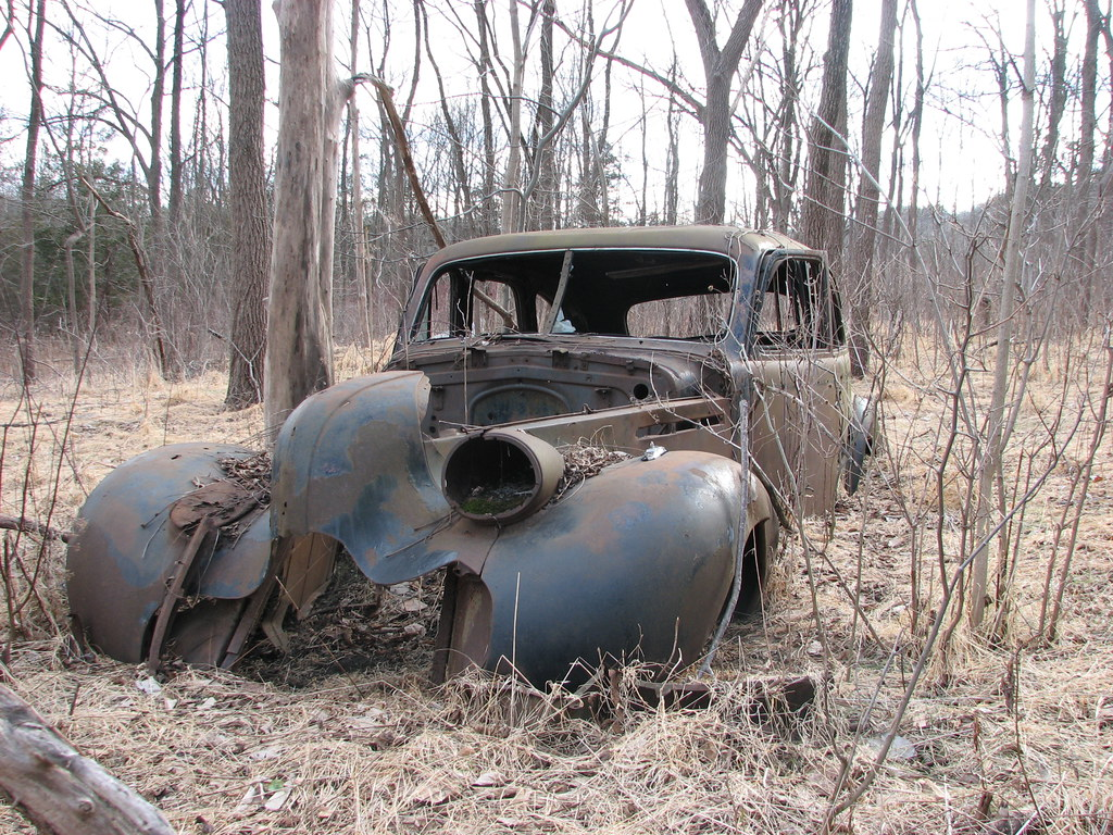 A LONG DEAD 1939 BUICK SEDAN IN FEB 2010