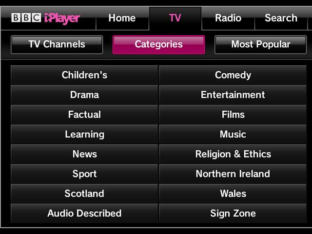 BBC iPlayer - Bigscreen __ TV __ Categories