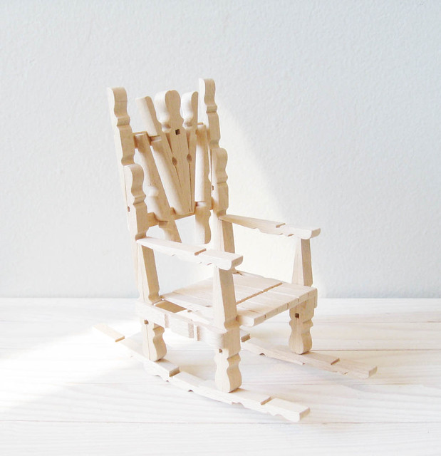 Astonishing Clothespin Rocking Chair I Made This In Craft Lesson At Sc Squirreltailoven Fun Painted Chair Ideas Images Squirreltailovenorg